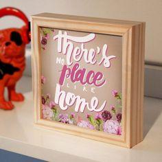 Quadro caixa There´s no place like home - PRINCE ST