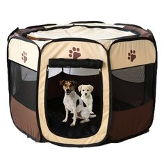 Pet Foldable Playpen Oxford Cloth Exercise Portable Kennel Indoor/Outdoor Bag Removable Mesh Shade Cover Easy Travel Hiking Camping * Want additional info? Click on the image. (This is an affiliate link and I receive a commission for the sales)