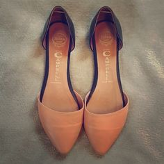 ✨D'orsay In Love Flats nude and black Super cute and comfortable leather In Love Flats in Nude/Black. They are a little too big for me sadly! If you are an 8 1/2 these would be perfect for you!  they are in great condition and so pretty! Purchased from another posher  Jeffrey Campbell Shoes Flats & Loafers