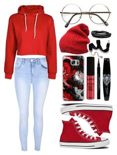 """""""Casual...."""" by theanonymousme ❤ liked on Polyvore featuring Glamorous, Boohoo, Casetify, NYX, Givenchy, Sweet Romance, BillyTheTree and Converse"""
