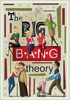 The Big Bang Theory characters in cartoon and won one of the TBBT exhibition Big Bang Theory Characters, Big Bang Theory Show, Big Bang Theory Quotes, Big Bang Theory Funny, The Big Theory, Big Beng, Rock Poster, Film Serie, Cultura Pop