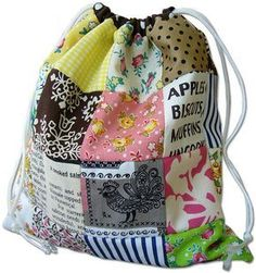 Reversible patchwork bag tutorial  (includes instructions for the patchwork, for those of us who are clueless in such things)