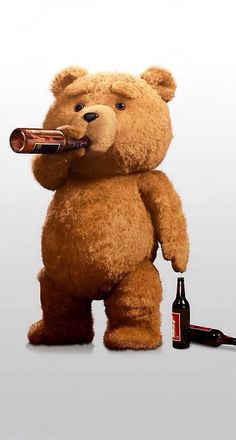 'Ted' by Seth MacFarlane. Is this film over-rated? I laughed in places, didn't finish it after a long day at work and doubt I will resume it. Cartoon Wallpaper, Disney Wallpaper, Iphone Wallpaper, Bear Drink, Valentines Day Teddy Bear, Ted Bear, Funny Films, How Bout Them Cowboys, Cowboys Football