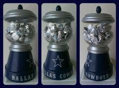 "Dallas Cowboys gumball machine / candy dish 4"""