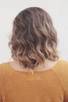 Soft balayage ombré highlights on short brown hair by Tara Harman