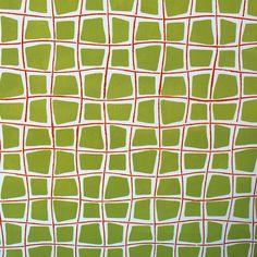 """Handmade wallpaper Det Danske Kunstnertapets Fugl Fønix  LLZ TAPET Denmark reprint of Ib Buch """"carre""""  close-up"""