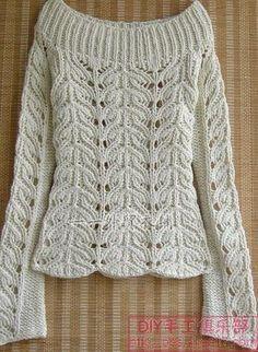 Detayi Kazak Knitting Pullover Ör Ö Knitting Pullover, Handgestrickte Pullover, Sweater Knitting Patterns, Crochet Cardigan, Lace Knitting, Knitting Stitches, Knit Patterns, Crochet Lace, Lace Sweater