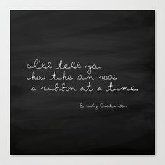 Typography Print Emily Dickinson Quote The by CallaAndClover