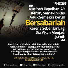 Bersabar ketika diberikan Musibah.