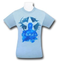 Images of Captain America Torso Stencil 30 Single T-Shirt