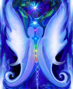 Blue Decor, Chakra Lovers, Twin Souls, Energy Art, Reiki Wall Art