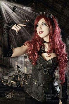 Steampunk Lady by Michael Scharrer Chat Steampunk, Mode Steampunk, Style Steampunk, Steampunk Costume, Steampunk Fashion, Gothic Fashion, Style Fashion, Punk Girls, Gothic Girls