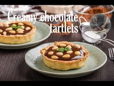 Creamy chocolate tartlets, delicious simple dessert, full of cream and chocolate. Recipe from scratch by Creative Kitchen food channel! Recipe From Scratch, Easy Desserts, Cheesecake, Muffin, Channel, Chocolate, Breakfast, Creative, Kitchen