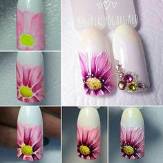 The problem is so many nail art and manicure designs that you'll find online New Nail Art, Cool Nail Art, Nail Manicure, Diy Nails, Spring Nails, Summer Nails, Uñas One Stroke, Nail Art Designs, Nail Design
