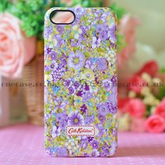 """This beautiful Cath Kidston Case for iphone 5 will decorate, protect your iPhone5; Fashionable and uniqueness, gives your iphone5 a new look. You are looking at a piece of authentic """"Cath Kidston"""" iphone case with lovely pattern on top. So lovely & special, super gift for friends!  ."""