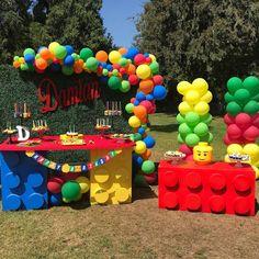 LEGO setup treats by me LEGO Setup wird von mir behandelt # Lego Party Decorations, Lego Party Games, Lego Themed Party, Lego Birthday Party, 6th Birthday Parties, Birthday Balloons, Lego Birthday Invitations, Ninjago Party, Lego Ninjago