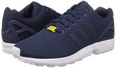 adidas Zx Flux, Sneakers Basses homme, Bleu (Dark Blue/Dark Blue/Core White), 44 EU (9.5 UK)