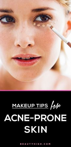makeup tricks for sensitive and acne-prone skin #beauty