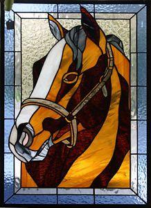 Stained Glass Bay Horse head. Calgary Alberta image 1