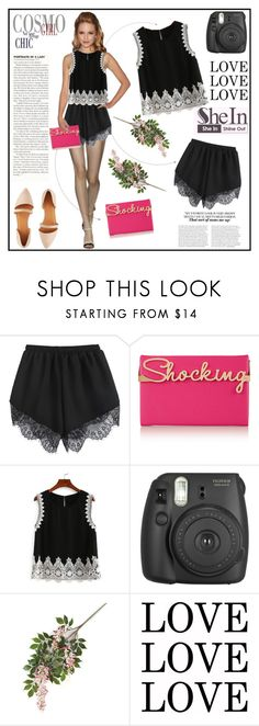 """shein black tank"" by arohii ❤ liked on Polyvore featuring Charlotte Olympia, Charlotte Russe and shein"