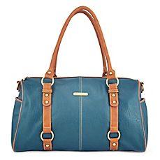 image of timi & leslie® Madison 7-Piece Diaper Bag Set in Dark Teal/Saddle