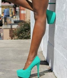 Great Heals!! obsessed w that color! a pop of colors w dark colors in winter going out or w white in summer!
