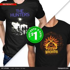 """Get """"The Hunters REPRINT"""" by girardin27 AND """"Non Timebo Mala"""" by kharmazero today only, December 2, for $10 at RIPT Apparel. www.riptapparel.com"""
