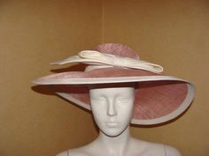 WHITELEY LADIES STRAW OCCASION HAT PINK/NUDE NEW BNWT RRP £225