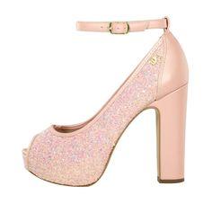 28a5cab22 Peep toe meia pata furtacor rosé, 12cm. Venha conhecer a linha festa Week  Shoes. ✨👠✨👠 #weekshoes #saltoalto #shoes #calçados #sapatos #marsala ...