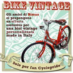 Due produttori italiani di biciclette artigianali stile vintage dell'azienda Bimax hanno creato per i nostri follower di #Milano una #promozione speciale per avere una #bici #vintage.  #bimax #bike #cyclopride #bicicletta #offerta #forfollowers