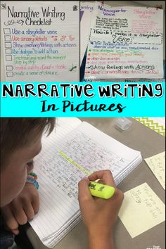 Narrative Writing in Pictures provides anchor charts and ideas for your narrative writing unit!