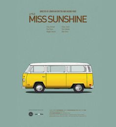 Minimalistic car movie posters by Jesús Prudencio