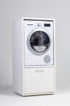 Vidaxl Socle Pour Machine A Laver Avec Etagere Coulissante Blanc Etagere Coulissante Machine A Laver Lave Linge