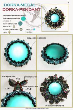 Ewa gyöngyös világa!: Dorka medál minta / Dorka pendant pattern