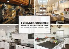 our countertop is a standard black granite with rust colored flecks i love these backsplash tilebacksplash ideasblack