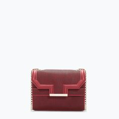PERFORATED MESSENGER BAG   Zara   $80