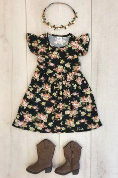 Black Beauty Floral Dress