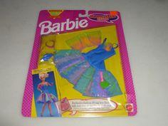 NEW ON CARD BARBIE MAGIC TALK CLUB FASHIONS SET NO 2137 MATTEL 1992 NOC VINTAGE  #Mattel