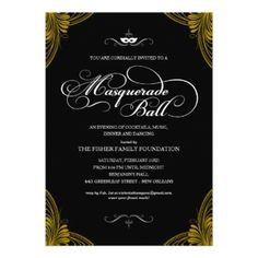 Formal Masquerade Ball Invitations invitation