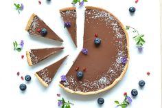 Tarte chocolat et noix de coco sans sucre ni beurre recette - healthyfoodcreation