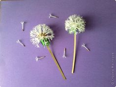 How to Make Beautiful Paper Dandelions | iCreativeIdeas.com Like Us on Facebook == https://www.facebook.com/icreativeideas