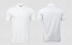 Maquete de polo branco frente e verso usado como modelo de design. Fitness Flyer, Shirt Mockup, Photoshop, Free Photos, Free Design, Free Christmas Printables, Conception, Templates, Mens Tops