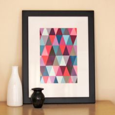 How to make colorful art with paint chips