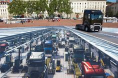 The World's Largest 3D Street Art in Lyon, France for Renault Campaign by French Artist François Abelanet