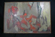 Beautiful Signed Original Oil on Canvas Abstract 'Kopelman 1959'