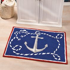 Nautical Hooked Rug - OrientalTrading.com
