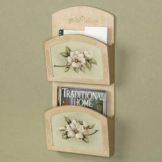 Magnolia Blooms Floral Wall Organizer