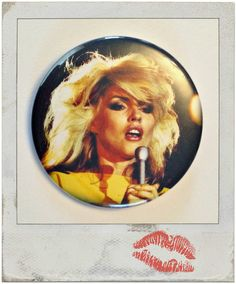 Dreamy Debbie Harry  Large 2.25 Button OR Pocket by BedlamSupplyCo
