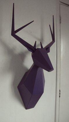 Veado ( Cabeça / Tronco ) Escultura Animal De Parede Apto/43