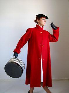 Red Coat. Wool.